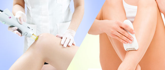 Professional Laser Hair Removal Versus Home Devices